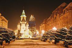 The cosmopoliatn Timisoara in Romania. Canalul Bega in Chirstams time!