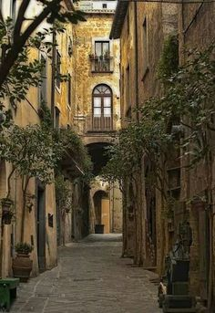 Alley in Tuscany Italy
