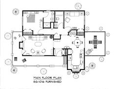Small affordable cottage style house plan under 1100 sf, efficient small economical floor plan with porches, ideal for starter, retirement or aging-in-place home plan 3d House Plans, Cottage Style House Plans, Small House Floor Plans, Cottage Style Homes, Country House Plans, Cabin Plans, Small Country Homes, Small Homes, Affordable House Plans
