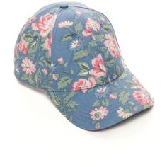 Bcbgeneration Vintage Blue Floral Baseball Hat ($17) ❤ liked on Polyvore featuring accessories, hats, vintage blue, floral hat, blue baseball hat, bcbgeneration, floral print hat and floral ball cap
