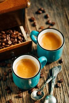 Two cups of coffee. Espresso by Anjelika Gretskaia - Photo 183393085 / 500px