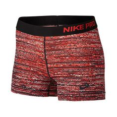 Women's Nike Pro Static 3 Inch Shorts ($35) ❤ liked on Polyvore featuring activewear, activewear shorts, nike sportswear, nike activewear and nike