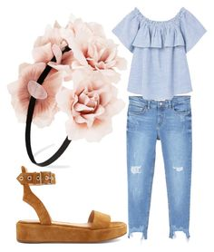 """""""Untitled #951"""" by clothyoulike ❤ liked on Polyvore featuring MANGO, Gianvito Rossi and Forever 21"""