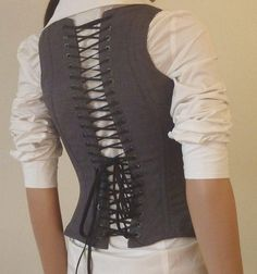 DIY Women Refashion: DIY Corset for the Business Professional