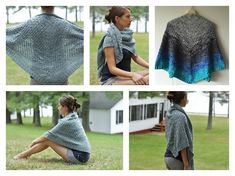 This Campside Shawl Free Knitting Pattern is a simple and easy shawl to make and is a perfect wear for any time of the year. Make one now with the free pattern provided by the link below.