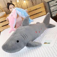 Kawaii Pastel Jumbo Shark Plush (90cm) - Special Edition - KawaiiTherapy Kawaii Bunny, Kawaii Plush, Cactus Lamp, Shark Plush, Plush Animals, Plushies, Cute Gifts, Dinosaur Stuffed Animal, Corgi