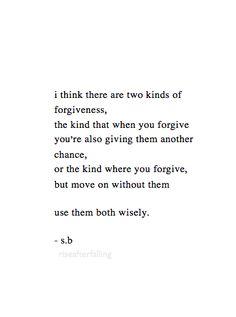 2 kinds of forgiveness