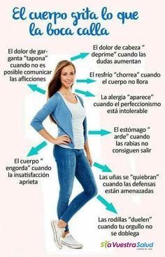 Lo que el cuerpo nos quiere decir #salud #saludable #vida #saludybienestar