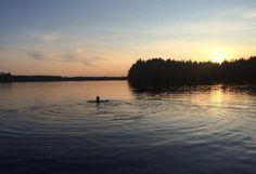 Coucher de soleil à Kuopio, Finlande