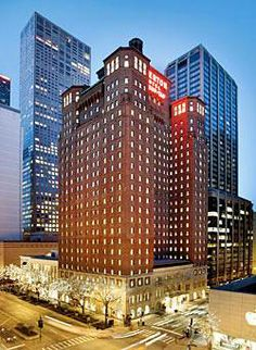 Allerton Hotel.  Chicago, Illinois.  701 N Michigan Avenue.  This location doesn't get any better, folks. (It's across from Tiffany's, too).