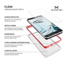 Ghostek designed the Cloak with a minimalism in focus. The Cloak case with a slim crystal clear full TPU body and an aluminum alloy. Ghostek's Glass Armor tempered glass screen protector is also included. Glass Armor features a 0.33mm 9H hardness glass that is HD clear. Don't sacrifice the beauty of your phone to keep it secured. Ghostek's design allows you to show off your phone and maintain peace of mind that your phone is completely covered. The Cloak's gel is 1.3 mm thick and is…