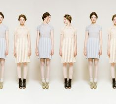 love the dresses but also the multiple colors idea / Rodarte for Opening Ceremony