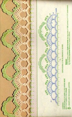 Crochet - Lace Edgings Border Trim