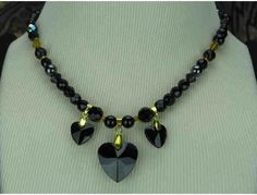 1/KIND Romantic and Charming Necklace w/Genuine Black Onyx and Hematite!