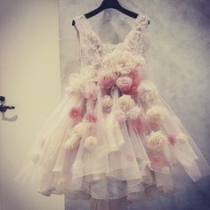 remaked mini dress by beluga Flower Dresses, Bridal Dresses, Wedding Gowns, Prom Dresses, Formal Dresses, Career In Fashion Designing, Remake Clothes, Gothic Lolita, Victorian Fashion