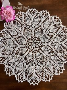 Items similar to Cream Lace Doily Pineapple Doily Vintage Table Doily Handmade Doilies Wedding Gift French Country Decor Crochet Lace Doily on Etsy wedding Tables lace Lace Doilies, Crochet Doilies, Crochet Lace, Crochet Tablecloth Pattern, Free Crochet Doily Patterns, Pineapple Crochet, Pineapple Pattern, Doily Wedding, Wedding Gifts