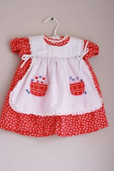 reserved for brigitte.Oh so sweet vintage dress 6 months - - Children's Outfits, Kids Outfits, Vintage Girls Dresses, Kid Styles, Sewing For Kids, Vintage Children, Kids Wear, Kids Girls, 6 Months