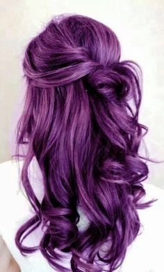 rock hair with deep purple