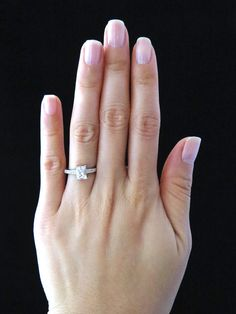 SALE Size 6, 7 or 8 - 1 carat Diamond Anniversary Engagement  Emerald, Radiant Cut Ring,  Man Made Diamond, Wedding, Bridal, Sterling Silver. $59.99 USD, via Etsy.