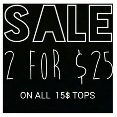 """Selling this """"Any tops that are 15$ only are 2 for 25$"""" in my Poshmark closet! My username is: kat_love. #shopmycloset #poshmark #fashion #shopping #style #forsale #All #Tops"""