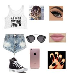 """cute"" by zaina-i ❤ liked on Polyvore featuring OneTeaspoon, Converse and Christian Dior"