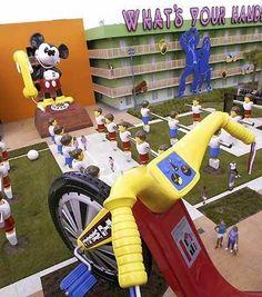 Pop Century resort @ Disney World. Loved staying in the building Disney Value Resorts, Disney Resort Hotels, Disneyland Resort, Disney Vacation Club, Disney Vacations, Disney Trips, Vacation Spots, Disney Pop, Disney Magic