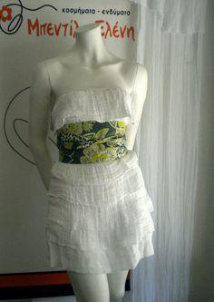 strapless white dress from gaza fabric  BEST SELLER by bedilaeleni, $65.00