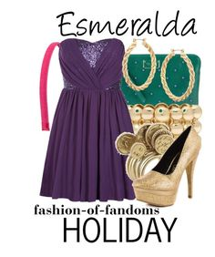 Esmeralda by fofandoms on Polyvore featuring polyvore, fashion, style, Promise Shoes, Marc Jacobs, House of Harlow 1960, Liz Claiborne, ASOS, Tasha and clothing