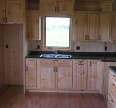 Knotty pine kitchen cabinets for the home pinterest paint colors kitchen colors and cabinets - Knotty pine cabinets makeover ...