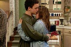 Corey and Topanga after her family moves away