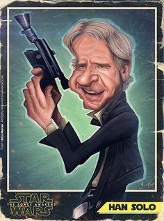 Caricature de Harrison Ford par Brice Mercier