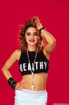 Madonna - The Material Girl 1980s • Maude and Hermione on Pinterest