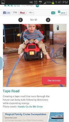 Tape road