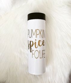 Travel Tumbler - 16 oz. Travel Tumbler -- Stainless Steel -- Coffee Mug --  Pumpkin Spice Fo'Life -- Funny
