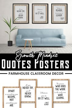 Use these fun (free included) growth mindset poster affirmations as motivation and inspiration for kindergarten or preschool kids in the classroom. These mindsets posters with inspirational quotes can be used as decor for teachers as display as part of the decor. The quotes are perfect for any grade level (grade 1, 5th etc) even elementary.  Your students can use these as rules. Use these sayings to impress the parents during back to school. Use them as banners, read alouds or bulletin… Growth Mindset Posters, Positive Attitude, Quotes For Kids, Read Aloud, Grade 1, Classroom Decor, Bulletin Boards, The Fosters, Banners