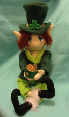 Green Leprechaun/ Irish Elf by javiegurl03 on Etsy, $25.00