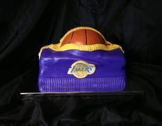 Laker gym bag cake