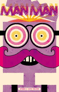 Cool on this zany poster for Man Man by the always amazing Nate Duval. Concert Posters, Music Bands, Illustrations Posters, Beautiful Pictures, Cool Stuff, Mustache, Pretty, Artist, Pearl