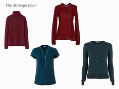 A 4 by 4 Capsule Wardrobe in Teal, Wine, Olive and Camel - The Vivienne Files How To Wear Cardigan, Teal Cardigan, Olive Jeans, Chevron Scarves, Capsule Wardrobe Work, The Vivienne, Top Pattern, Wardrobes, Wine