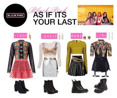 """""""BLACKPINK-AS IF ITS YOUR LAST"""" by miinzuu ❤ liked on Polyvore featuring Marques'Almeida, Topshop, David Koma, Chanel, Miss Selfridge, Courrèges, Dolce&Gabbana, Paskal, Yves Saint Laurent and Steve Madden Kpop Outfits, Stage Outfits, Pink Outfits, Korean Outfits, Casual Outfits, Blackpink Fashion, Women's Fashion Dresses, Korean Fashion, Kpop Girl Bands"""
