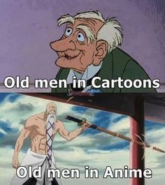 Never mess with an old man in Anime!  Who's your favorite Anime old timer?