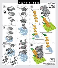ผลการค้นหารูปภาพสำหรับ nanoblock instructions