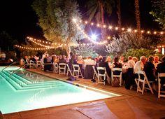 Colony Palms Hotel Palm Springs String Lighting E Wedding Boutique