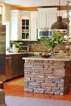 Gorgeous kitchen island! Wish my kitchen was bigger!
