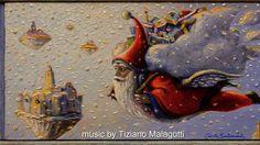 HERE COMES SANTA CLAUS  by Carlo Salomoni  painting 2016