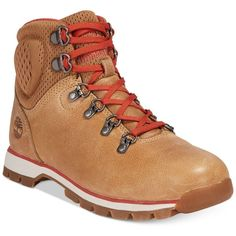Timberland Women's Alderwood Mid Hiker Boots ($120) ❤ liked on Polyvore featuring shoes, boots, medium beige, timberland boots, rugged shoes, hiking boots, beige boots and timberland shoes
