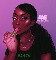 Eagles Fantasy Football Names Football Funny Peyton Manning Black Love Art, Black Girl Art, Art Girl, Black Art Painting, Black Artwork, Drawing Wallpaper, Girl Wallpaper, Drawings Of Black Girls, Girly Drawings