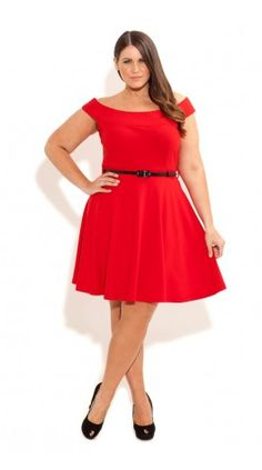 c2407ec78cc Bridgette Skater Dress. Plus Size DressesPlus Size OutfitsPlus Size Red ...