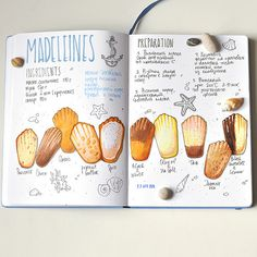 I want to make a recipe book so badly 😆😆 Homemade Recipe Books, Recipe Book Design, Madeleine Recipe, Recipe Drawing, Food Sketch, Food Journal, Recipe Journal, Watercolor Food, Sketch Journal