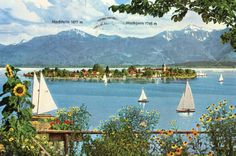 Am Chiemsee - Prien. Postcard purchased in Germany, 1976.